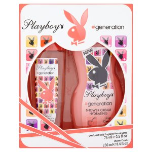 playboy-generation-parfemovany-deodorant-natural-sprej-75ml-damsky-sprchovy-gel-250ml