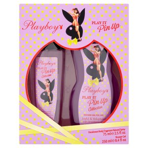 playboy-play-it-pin-up-parfemovany-deodorant-natural-sprej-75ml-damsky-sprchovy-gel-250ml